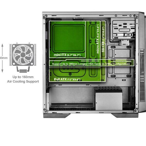کیس کامپیوتر گرین مدل PARSA
